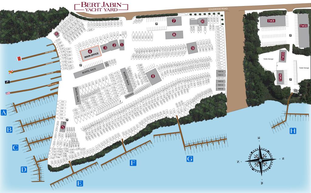 Yard Map - Bert Jabin Yacht Yard Yard Map on